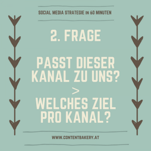 Social Media Strategie Ziele festlegen Content Bakery