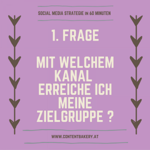 Social Media Strategie Zielgruppe Content Bakery