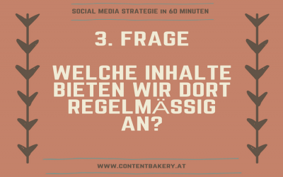 Social Media Strategie in 3 Schritten – Frage 3